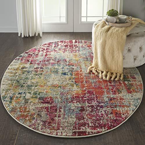 Marca de Amazon - Movian Dospat, alfombra redonda, 121,9 x 121,9 cm (diseño geométrico)
