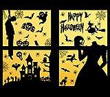 Voqeen Halloween Pegatinas de Ventana de Fantasma Espeluznante Decoración de Fiesta de Disfraces Casas embrujadas Decoración Ventana Calcomanía Puerta