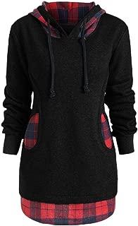 〓COOlCCI〓Women's Fashion Hoodies & Sweatshirts, Women's Casual Leopard Color Block Patchwork Hoodie Jacket Tops Blouse