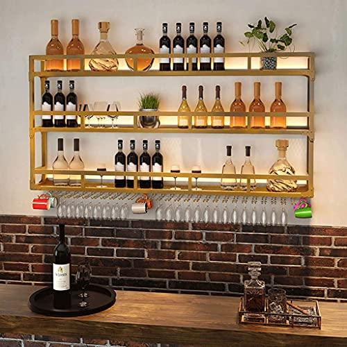 BGHDIDDDDD Novedad Wine Rack Wine Racks Wine Organizer Rack Wine Racks Ligeros para Colgar en la Pared Gabinete para Vinos Bar Mostrador de Fondo Decoración Estante para Copas de Vino Al Revés Hogar