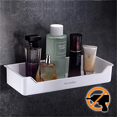 Wangel Duschkorb Duschablage ohne Bohren für Bad, Klebestreifen Pads Starke Montage-Klebeband transparent, ABS-Kunststoff