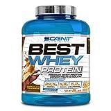 Best Whey Protein - 100% proteína de suero de leche, proteína en polvo con aminoácidos para el desarrollo muscular - 2,27 kg (Batido de chocolate)