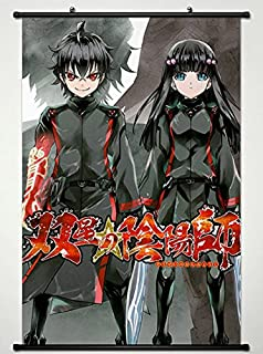 Twin Star Exorcists Wall Scroll Poster Fabric Painting for Anime Rokuro Enmadou & Benio Adashino L