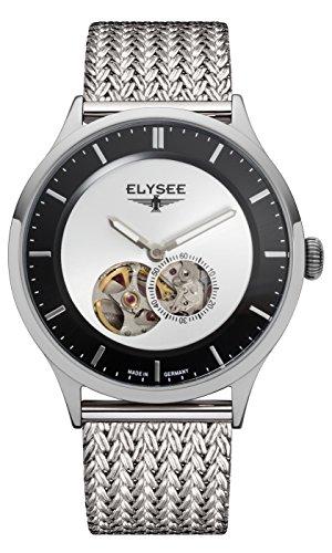 Elysee, 15101M, unisex, volwassene analoog automatisch horloge met roestvrij stalen armband