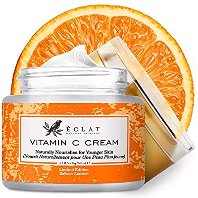 Advanced Vitamin C Cream with Retinol and Hyaluronic Acid to Erase Wrinkles Lines & Dark Spots - 3X More Potent 20% Vitamin C Anti Ageing Cream - 100% Vegan / Dermatologist Developed from Eclat Skincare