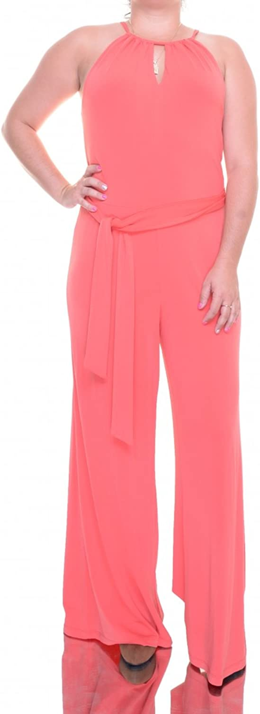 Lauren Ralph Lauren Womens Crepe Keyhole Jumpsuit