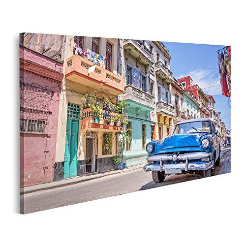 Cuadro en lienzo Coche clásico americano de época La Habana, Cuba cuadros...