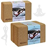 ALPIDEX Bloque de Corcho Yoga Block Cork Ladrillo Natural Bloc Pilates Juego de...