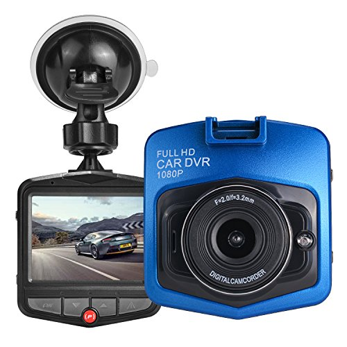 HK Dash Cam for Cars with Night Vision 1080P FHD DVR Vehicle Driving Recorder Mini Dashboard Camera 2.4 LCD Screen 170 Degree Wide Angle,Parking Monitor, G-Sensor,WDR,Loop Recording, Motion Detection