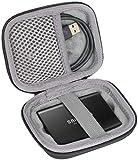 co2CREA Hard Custodia Borse Viaggio per Samsung T3/T5 SSD Portable External Solid State Drive 250GB 500GB 1TB 2TB (Nero)