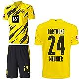 PUMA Borussia Dortmund BVB Heimset 2020 2021 Home Kit Sponsor BL Logo Herren Thomas Meunier 24 Gr XXXL