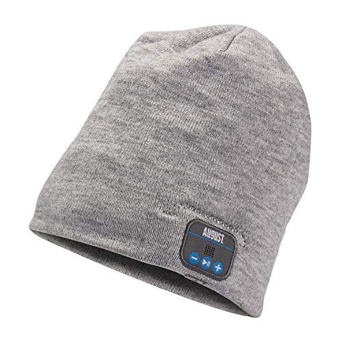 August EPA20 – Berretto Audio Bluetooth Stereo – Berrettino Termico Bluetooth con Cuffie Integrate, Microfono e Batteria Ricaricabile – Caldo e Morbido, Compatibile con Smartphone/PC/Tablet