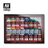 VALLEJO-3072299 72299 Vallejo Game Color Set DE 16, Multicolor (3072299)