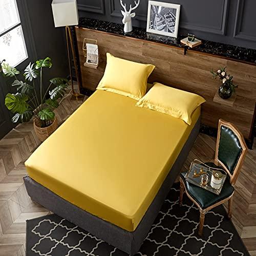 BOLO 100% algodón ropa de cama elástica colchón protector hogar hotel cama doble tamaño king cama cubierta, sin plancha sábanas antiarrugas, 120x200cm+30cm