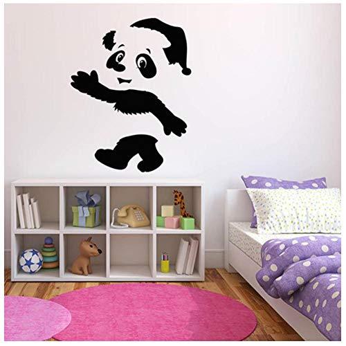 Leuke Dieren Muurstickers Panda Beer Muurstickers Voor Kinderen Kamer Kwekerij Decor Muursticker Huisdieren Shop Raamdecoratie 72 * 57cm