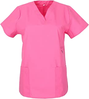 YFCH Adulte Femme Uniforme M/édical 2 Pi/èces Manches Courtes Blouse Chirurgien avec Pantalon Professionnel