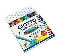 Giotto 454000 Turbo Pennarelli, Turbo Maxi Punta Larga, 5 mm, Confezione da 12 #1