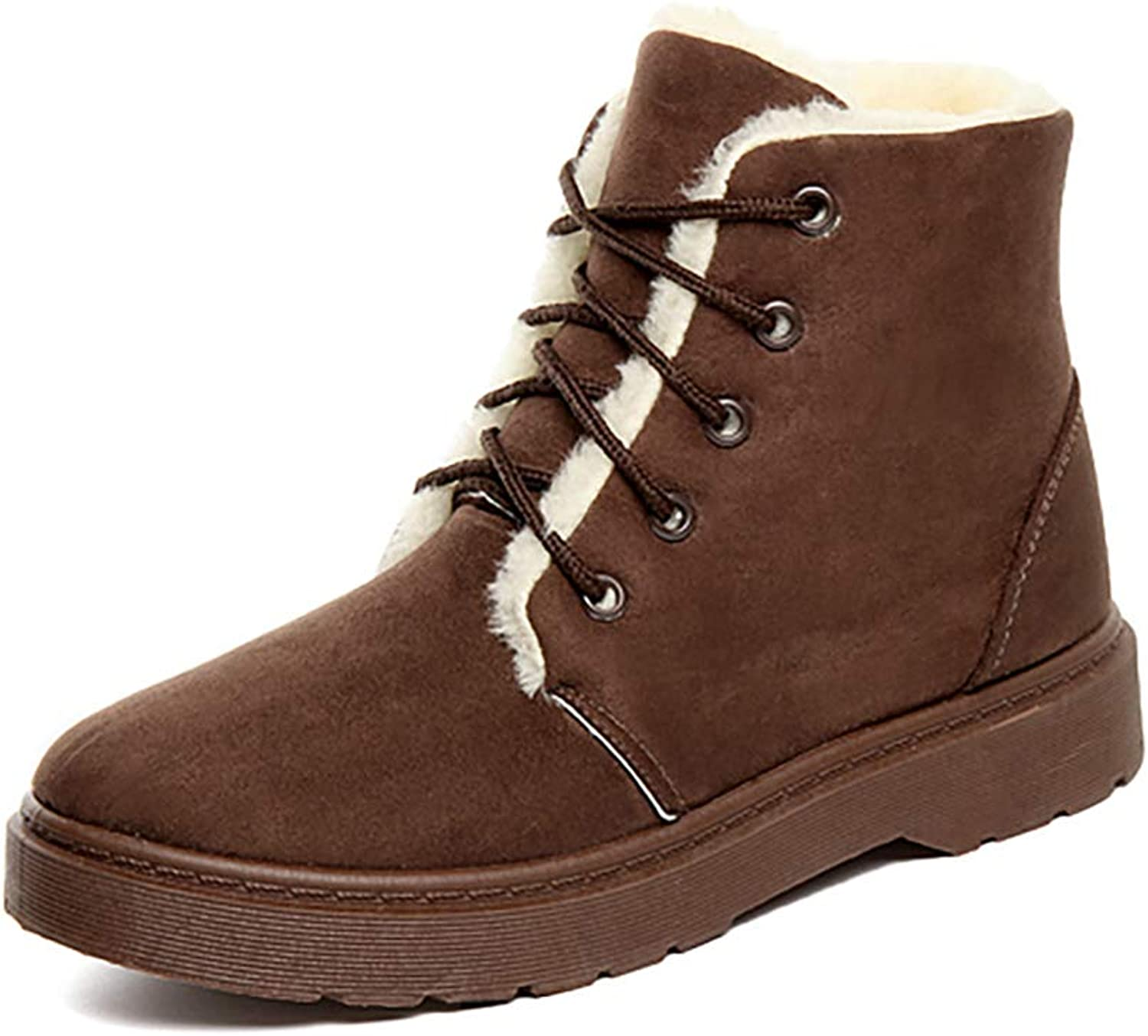 T-JULY Ladies Snow Boots Female Boots Women Autumn Winter Girls shoes Faux Suede Keep Warm Non Slip Flats Plush Insole