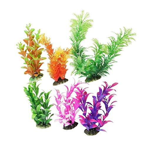 POPETPOP Künstliche Pflanze Unterwasser Seegras Gefälschte Pflanze Dekorative Aquarium Ornament für Aquarium 6 Stücke