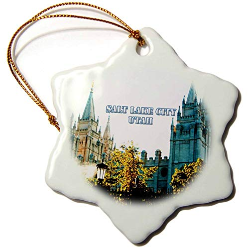 Kysd43Mill The Salt Lake City LDS Temple with Spires Reaching to The Sky Christmas Ornaments for Kids Christmas Tree Decoration
