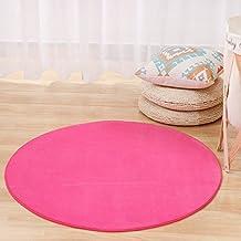 Ronde 100cm Solid Flanel Memory Foam Carpets Area Tapijt Slaapkamer Dormat Vloermat Groen/Rood/Grijs Yoga Stoel Matten Voo...