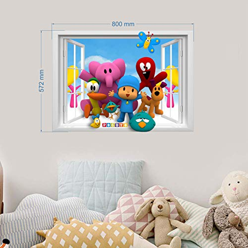 Pocoyo Wall Stickers for Bedroom Boys and Girls Wall Mural Wall Decal Art Wallpaper Sticker for Nursery Wall Art playrooms Boys Girls Pocoyo Wall Sticker decoracion Size 78cm x 55cm