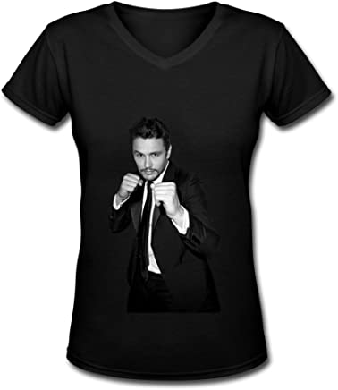 Aopo James franco manica corta t-shirt per donne