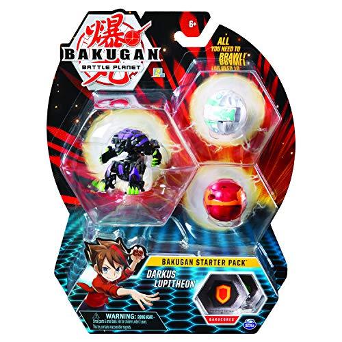 Bakugan 6058562 - Starter Pack mit 3 Bakugan (Ultra Darkus Lupitheon, Basic Pyrus Gorthion, Basic Haos Trox)