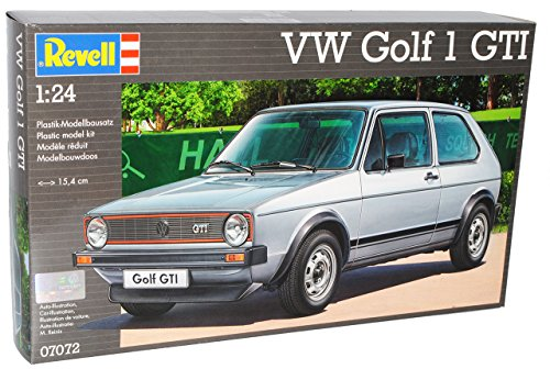 Revell Volkwagen Golf I GTI 3 Türer Silber Grau 1974-1983 07072 Bausatz Kit 1/24 Modell Auto