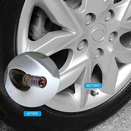 TK-KLZ 5Pcs Chrome Car Tire Valve Stem Caps for Tesla Roadster Model S Model X Model 3 TESLASUV Decorative Accessory