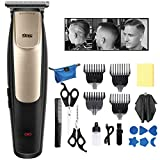 Hair Clippers, Electric Hair Tattoo Razor, Rechargeable Cordless Trimmer, with 4 Guide Combs & Hair Cutting Accessories, for Men and Boys