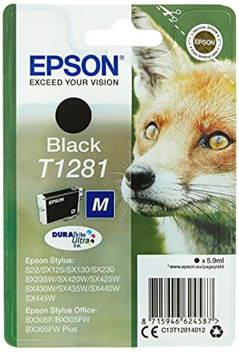 Epson Fox Singlepack Black T1281 DURABrite Ultra Ink