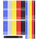 Pasow 80pcs Cable Ties Reusable Fastening Cable Ties Double Hook Tie Organiser Tie Wire Fasteners 5'/ 6'/8'/ 11' (Multi-colour)