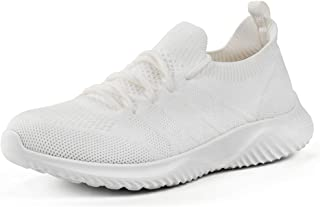 Womens Walking Tennis Shoes - Slip On Memory Foam Lightweight Casual Sneakers for Gym Travel Work
