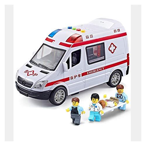 LINANNAN Oversized Children's Ambulance Toy Simulation Little Boy and Girl Car Modelo Adecuado para niños de cumpleaños Infantil Aficiones