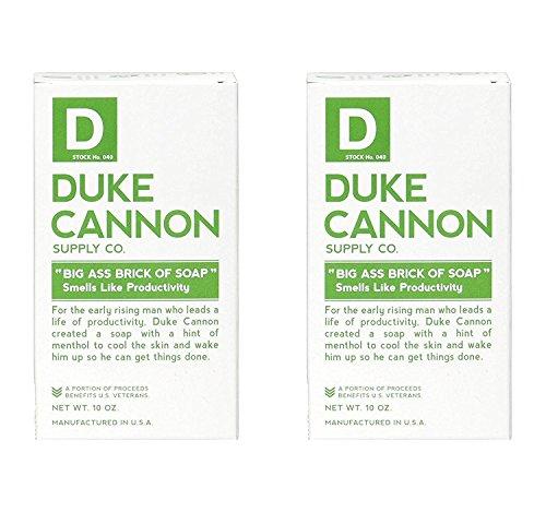 Duke Cannon Big Brick of Soap for Men - Smells Like Productivity, 10oz (Pack of 2)