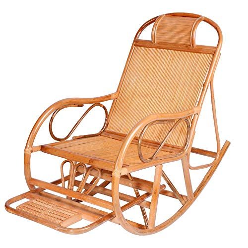 SJSLSJSL Patio Chairs Outdoor Glider Rattan Rocker Chair Wicker Rocking Chairs for Porch Garden Lawn Deck,Patio Rattan Wicker Rocking Chair Patio Sofa Relaxing Lounge Chair Outdoor Furniture