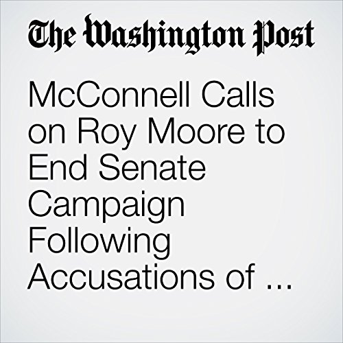 McConnell Calls on Roy Moore to End Senate Campaign Following Accusations of Sexual Misconduct copertina