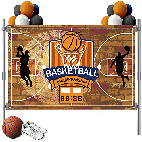 Basketball Backdrop for Basketball Sports Theme Photography and Birthday Party Background Decorations, Large Basketball Championship Backdrop (5X3ft)
