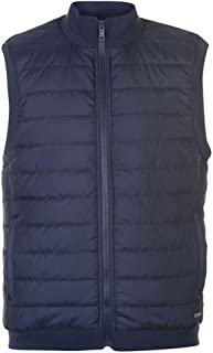 Mens Quilted Fleece Lightweight Full Zip Gilet Bodywarmer with Ribbed Collar and Hem