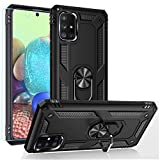 Samsung A71 5G Case,Galaxy A71 5G Case,PUSHIMEI Military Grade Heavy Duty Protection Phone Case Cover with HD Screen Protector Magnetic Ring Kickstand for Samsung Galaxy A71 5G (Black Military Case)