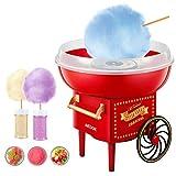 Macchina per Zucchero Filato in Casa, Cotton Candy Machine per Bambini, Uso per Feste e Casa 500 W, Uttalizare Regolare Zucchero o Caramelle Senza Zucchero, Facile da usare e da pulire, Retrò Rosso