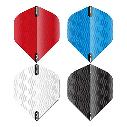 RED DRAGON Hardcore Selection Pack RD Plain Extra Thick Standard Dart Flights - 4 Sets per Pack
