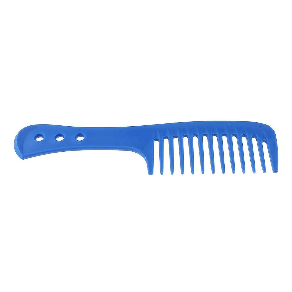 品弾性血B Blesiya ヘアコーム 帯電防止櫛  ヘアブラシ 頭皮 マッサージ 4色選べ - 青