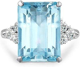 Samie Collection Princess Diana 20ctw Emerald Cut Simulated Gemstone in Aquamarine-Tone, Emerald-Tone, Garnet-Tone Cocktai...