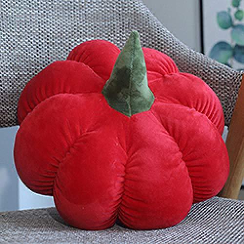 Calabaza de Color Juguete de Peluche Peluche Relleno Vegetal Fruta Juguete Niños Adultos Sofá Silla Comida Almohada-Rojo