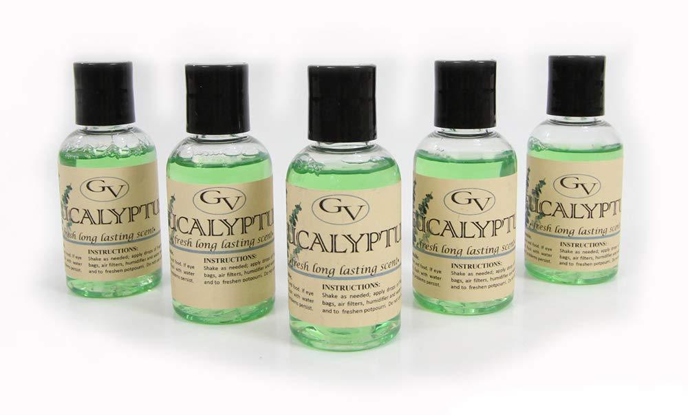 GV Cinco Paquete de Fragancia del eucalipto para el Aspirador de Rainbow, Rainmate, Thermax, Hyla y para los humidificadores 2 FL Oz Verde: Amazon.es: Hogar