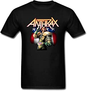 LSLEEVE Men's Anthrax Big A Pentagram Judge Dredd Tour T-Shirts