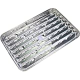 SIDCO Grillschale 3 x Schale Aluminium Grillpfanne Grill Einweg Grillschalen 34x23cm