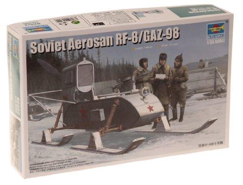 トランペッター 1/35 ソビエト軍 RF-8 武装スノーモービル プラモデル